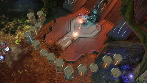 Capturas de pantalla del juego Halo: Spartan strike para iPhone, iPad o iPod.