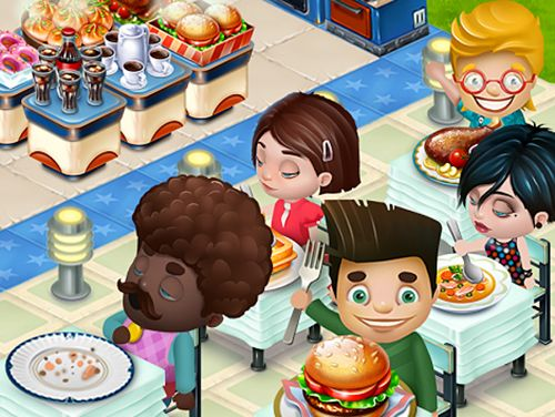 Capturas de pantalla del juego Happy cafe para iPhone, iPad o iPod.