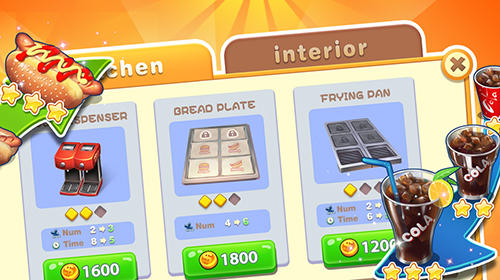 Screenshots vom Spiel Happy cooking: Chef fever für iPhone, iPad oder iPod.