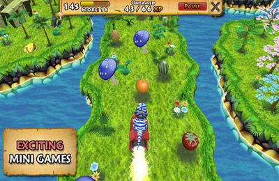 Screenshots of the Happy Dinos game for iPhone, iPad or iPod.