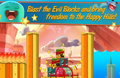 Écrans du jeu Happy Hills 2: Bombs Away! pour iPhone, iPad ou iPod.