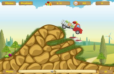 Screenshots of the Happy Truck game for iPhone, iPad or iPod.