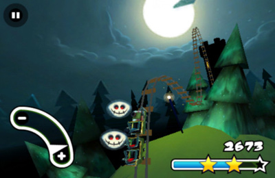 Screenshots vom Spiel Haunted 3D Rollercoaster Rush für iPhone, iPad oder iPod.
