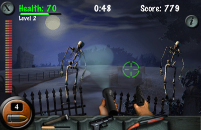 Screenshots of the Haunted Cemetery game for iPhone, iPad or iPod.