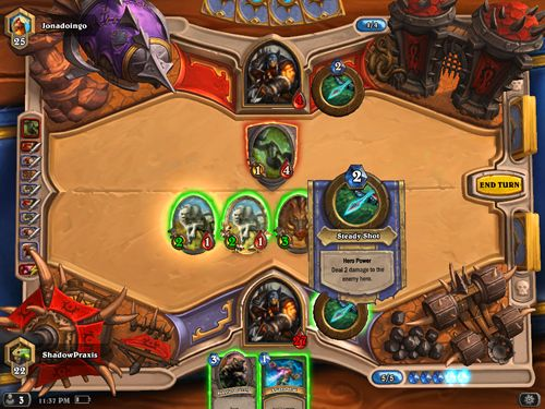 Скриншот игры Hearthstone: Heroes of Warcraft на Айфон.