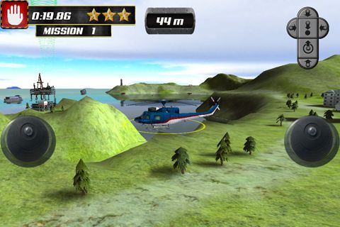 Capturas de pantalla del juego Helicopter parking simulator para iPhone, iPad o iPod.