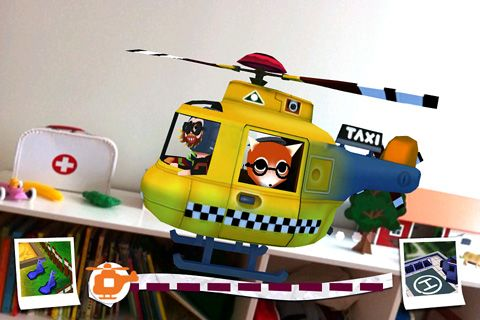 Screenshots of the Helicopter taxi game for iPhone, iPad or iPod.