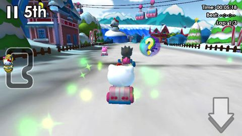 Download Hello Kitty: Kruisers iPhone free game.