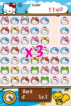 Free Hello Kitty Match3 Maniacs download for iPhone, iPad and iPod.