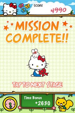 Screenshots of the Hello Kitty Match3 Maniacs game for iPhone, iPad or iPod.