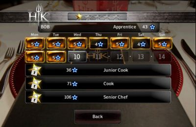 Capturas de pantalla del juego Hell's Kitchen para iPhone, iPad o iPod.