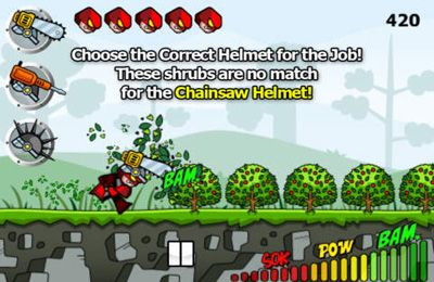 Screenshots vom Spiel Helmet Hero: Head Trauma für iPhone, iPad oder iPod.