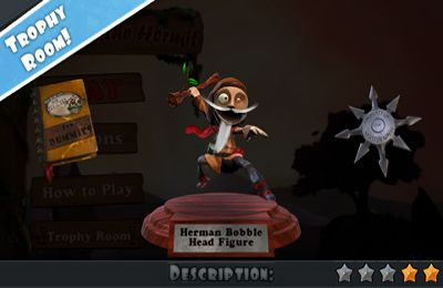 Screenshots of the Herman the Hermit game for iPhone, iPad or iPod.