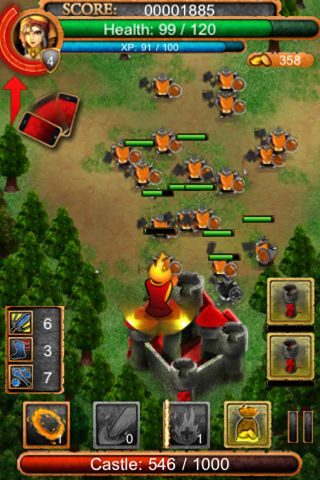 Screenshots of the Hero defense pro game for iPhone, iPad or iPod.