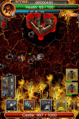 Screenshots vom Spiel Hero defense pro für iPhone, iPad oder iPod.