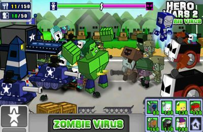 Écrans du jeu Hero Wars 2: Zombie Virus pour iPhone, iPad ou iPod.