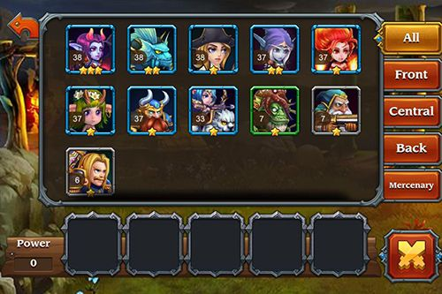 Screenshots of the Heroes charge game for iPhone, iPad or iPod.
