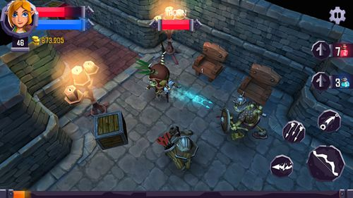 Capturas de pantalla del juego Heroes: Curse para iPhone, iPad o iPod.