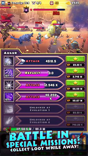 Écrans du jeu Heroes of havoc: Idle adventures pour iPhone, iPad ou iPod.