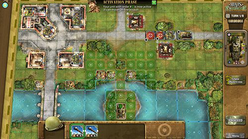Screenshots of the Heroes of Normandie game for iPhone, iPad or iPod.