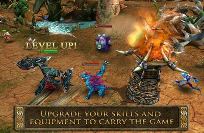 Capturas de pantalla del juego Heroes of Order & Chaos - Multiplayer Online Game para iPhone, iPad o iPod.