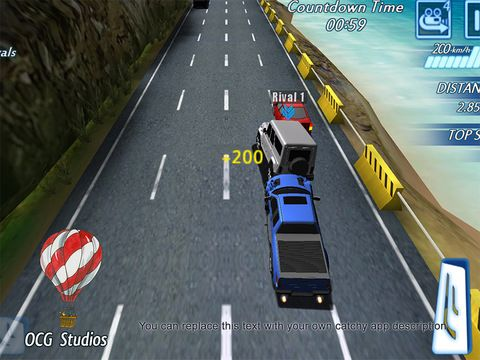 Screenshots vom Spiel Highway racing: Traffic rush für iPhone, iPad oder iPod.