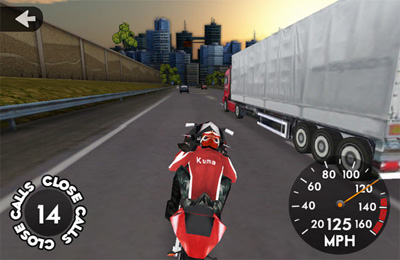 Capturas de pantalla del juego Highway Rider para iPhone, iPad o iPod.