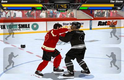 iPhone、iPad 或 iPod 版Hockey Fight Pro游戏截图。