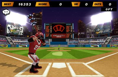 Screenshots vom Spiel Homerun Battle 2 für iPhone, iPad oder iPod.