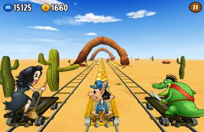 Screenshots of the Hugo Troll Race game for iPhone, iPad or iPod.