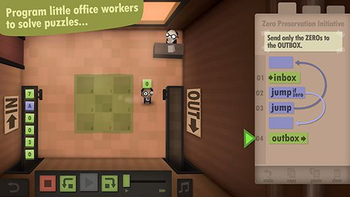 Écrans du jeu Human resource machine pour iPhone, iPad ou iPod.