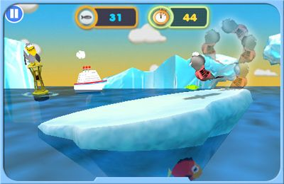 Capturas de pantalla del juego Hungry Seal para iPhone, iPad o iPod.
