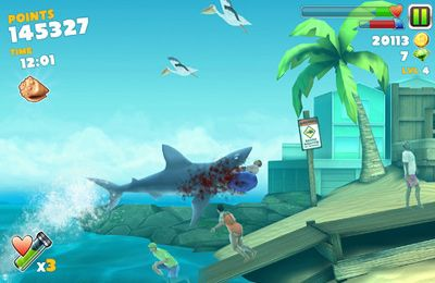 Free Hungry Shark Evolution download for iPhone, iPad and iPod.