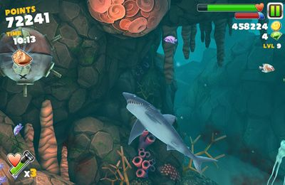 Screenshots of the Hungry Shark Evolution game for iPhone, iPad or iPod.