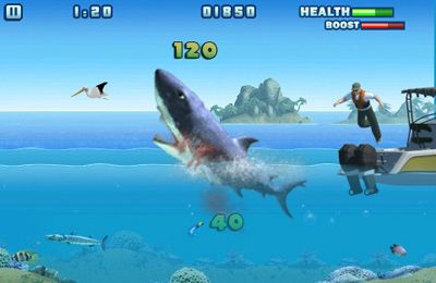 Écrans du jeu Hungry Shark - Part 3 pour iPhone, iPad ou iPod.