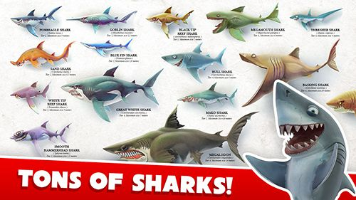 Screenshots of the Hungry shark world game for iPhone, iPad or iPod.