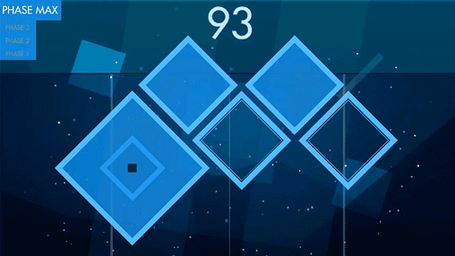 Screenshots of the Hyper square game for iPhone, iPad or iPod.