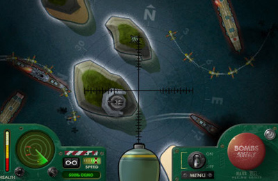 Screenshots of the ibomber game for iPhone, iPad or iPod.