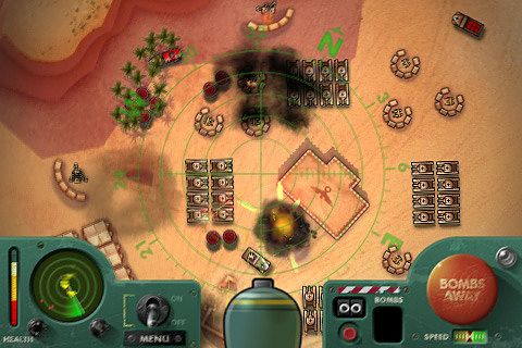 Screenshots of the iBomber 2 game for iPhone, iPad or iPod.