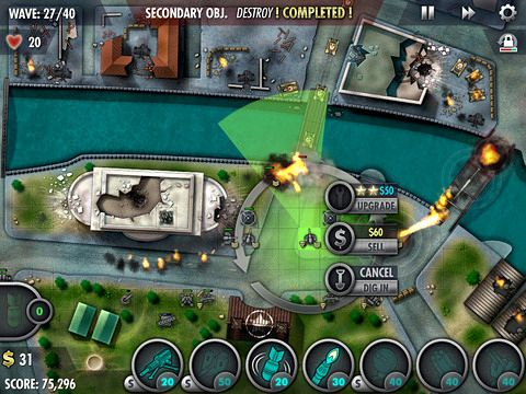 Download iBomber: Defense Pacific iPhone free game.