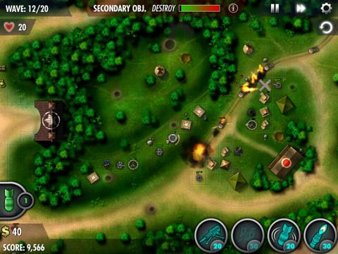 Screenshots of the iBomber: Defense Pacific game for iPhone, iPad or iPod.