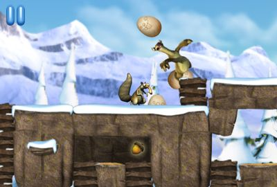 Screenshots do jogo Ice Age: Dawn Of The Dinosaurs para iPhone, iPad ou iPod.