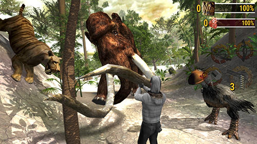 Screenshots vom Spiel Ice age hunter: Evolution für iPhone, iPad oder iPod.