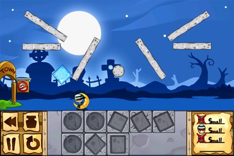 Screenshots of the Ice defence game for iPhone, iPad or iPod.