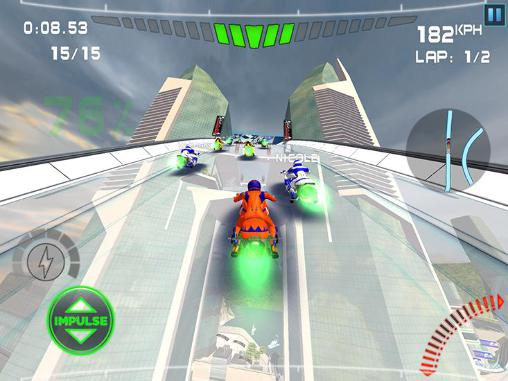 Screenshots of the Impulse GP game for iPhone, iPad or iPod.
