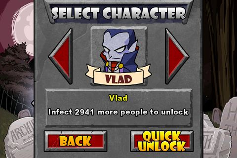 Screenshots vom Spiel Infect them all: Vampires für iPhone, iPad oder iPod.