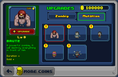 Screenshots vom Spiel Infectonator: Hot Chase für iPhone, iPad oder iPod.