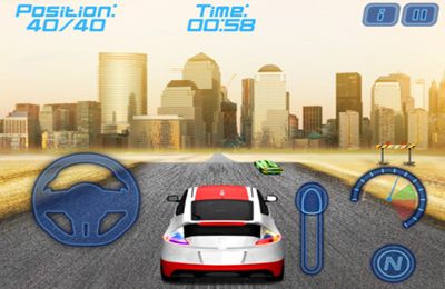 Screenshots of the Infinity Road Racing game for iPhone, iPad or iPod.