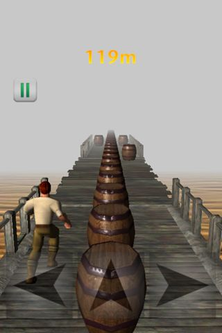 Screenshots of the Infinity running game for iPhone, iPad or iPod.