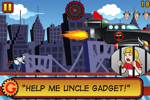 Free Inspector Gadget's mad dash download for iPhone, iPad and iPod.